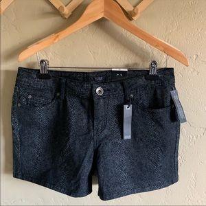NWT a.n.a Black Snakeskin Denim Jean Shorts 10